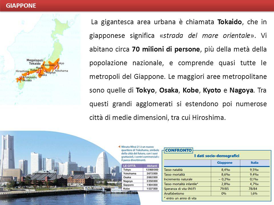 La gigantesca area urbana è chiamata Tokaido, che in giapponese significa «strada del mare orientale».