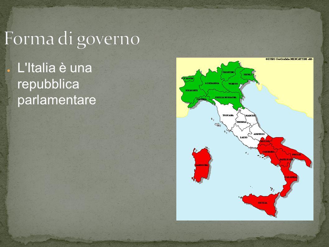 Italia 1 l 39 italia e un paese piccolo con una superficie di for Repubblica parlamentare italiana