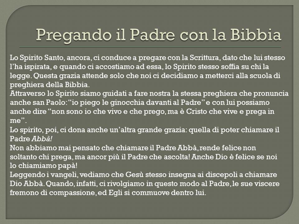Pregando il Padre con la Bibbia