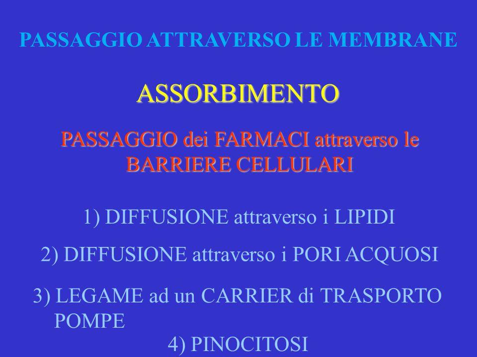 PASSAGGIO ATTRAVERSO LE MEMBRANE