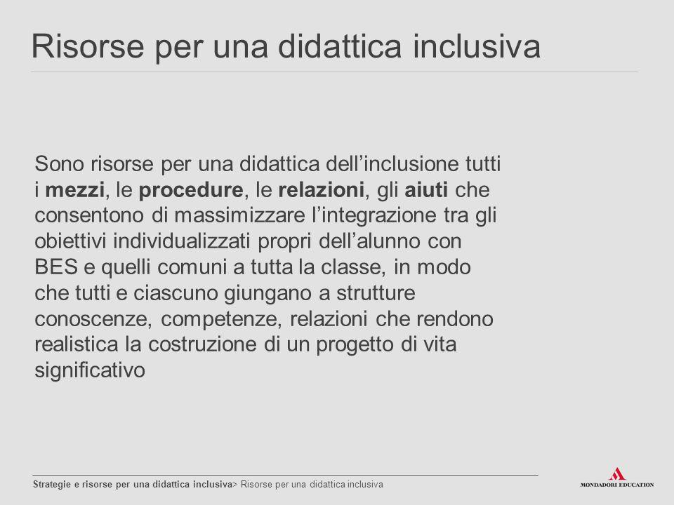 Risorse per una didattica inclusiva