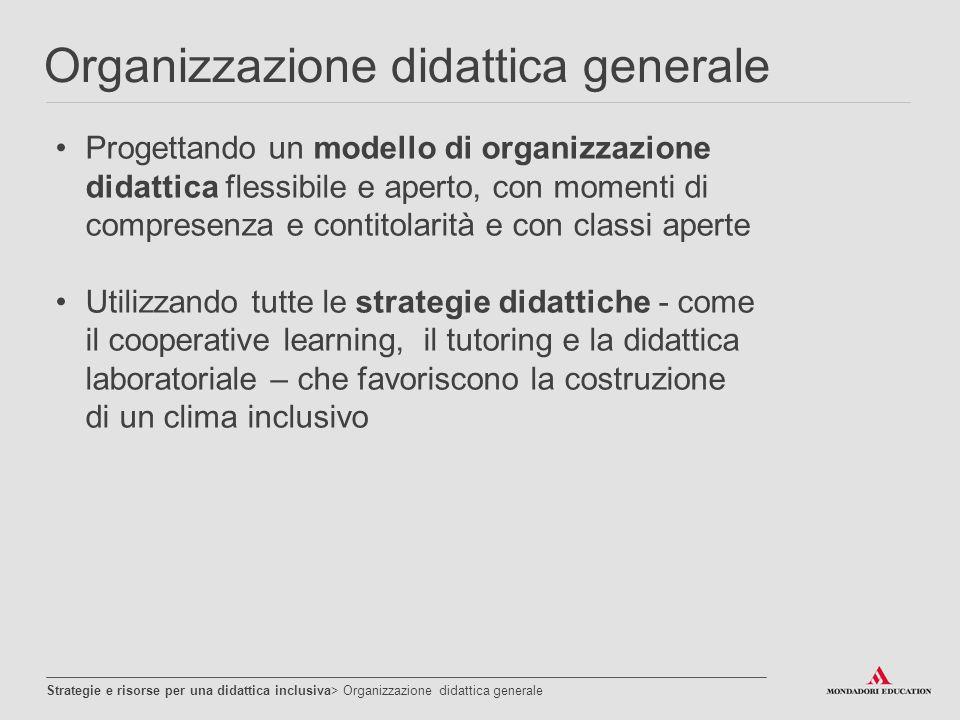 Organizzazione didattica generale