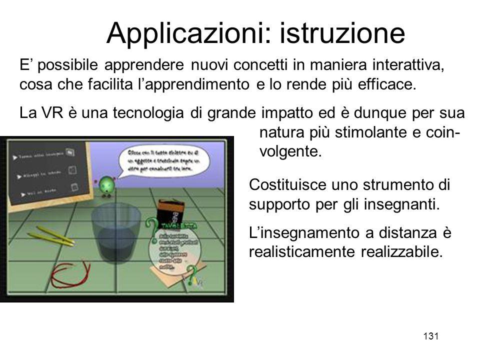 Applicazioni: istruzione