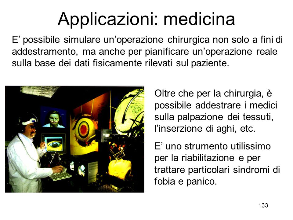 Applicazioni: medicina