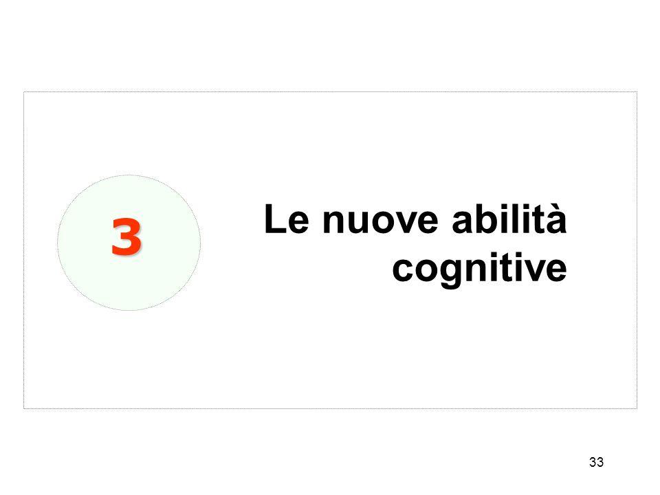 Le nuove abilità cognitive