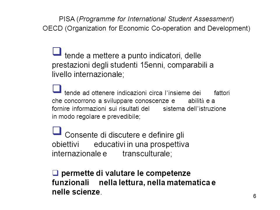 PISA (Programme for International Student Assessment) OECD (Organization for Economic Co-operation and Development)