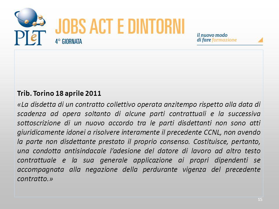 Trib. Torino 18 aprile 2011