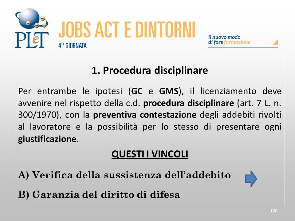1. Procedura disciplinare