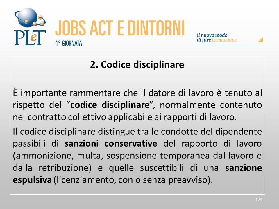 2. Codice disciplinare