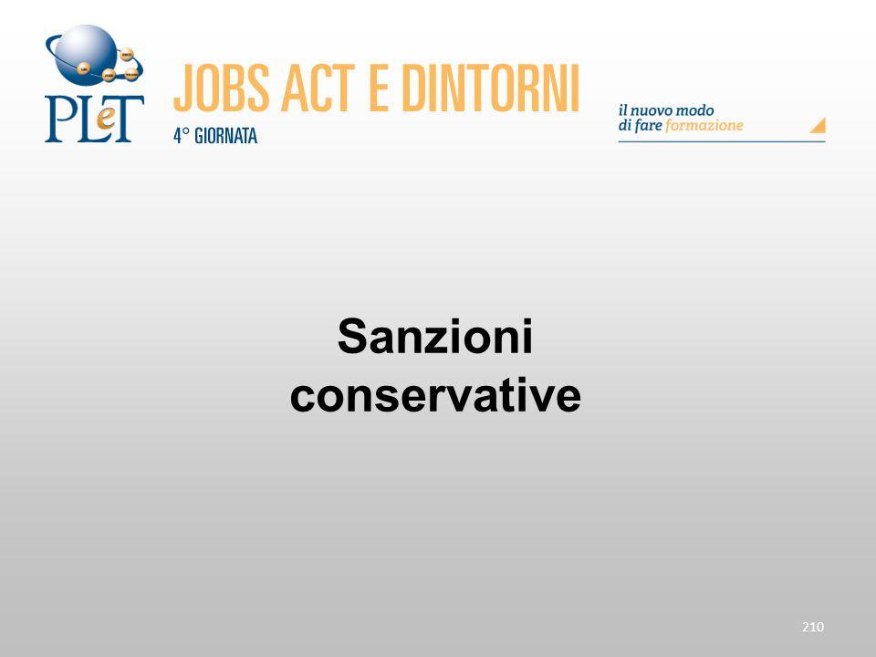 Sanzioni conservative