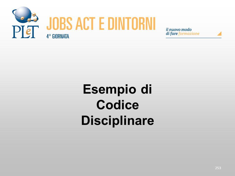 Esempio di Codice Disciplinare