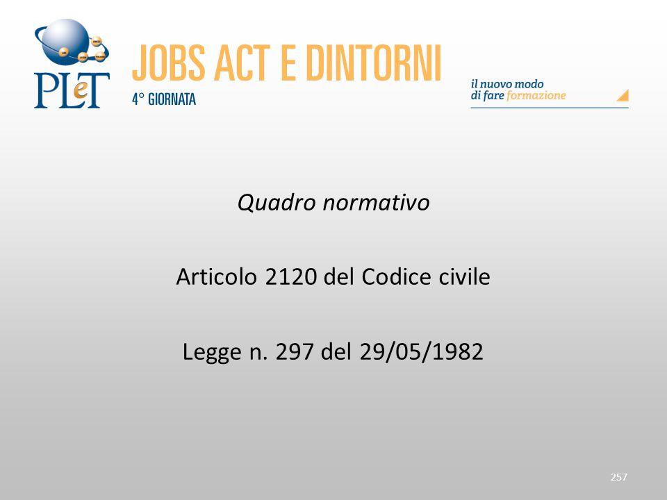 Articolo 2120 del Codice civile