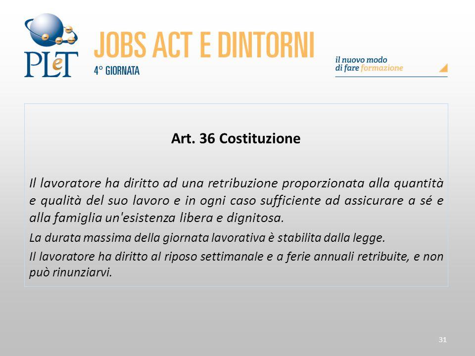Art. 36 Costituzione