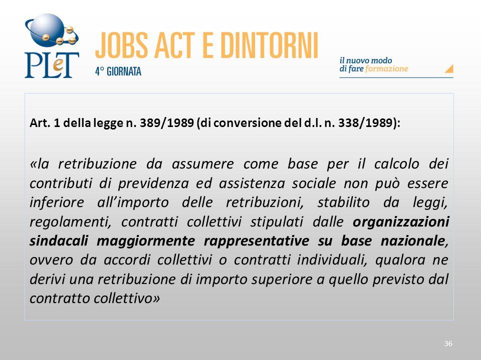 Art. 1 della legge n. 389/1989 (di conversione del d.l. n. 338/1989):
