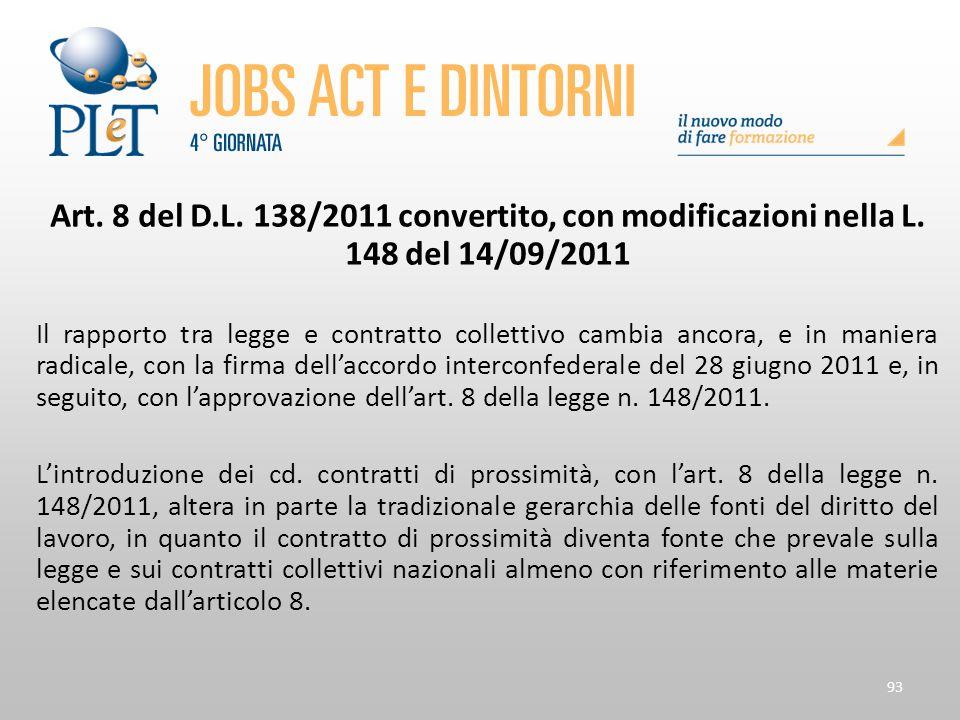 Art. 8 del D. L. 138/2011 convertito, con modificazioni nella L
