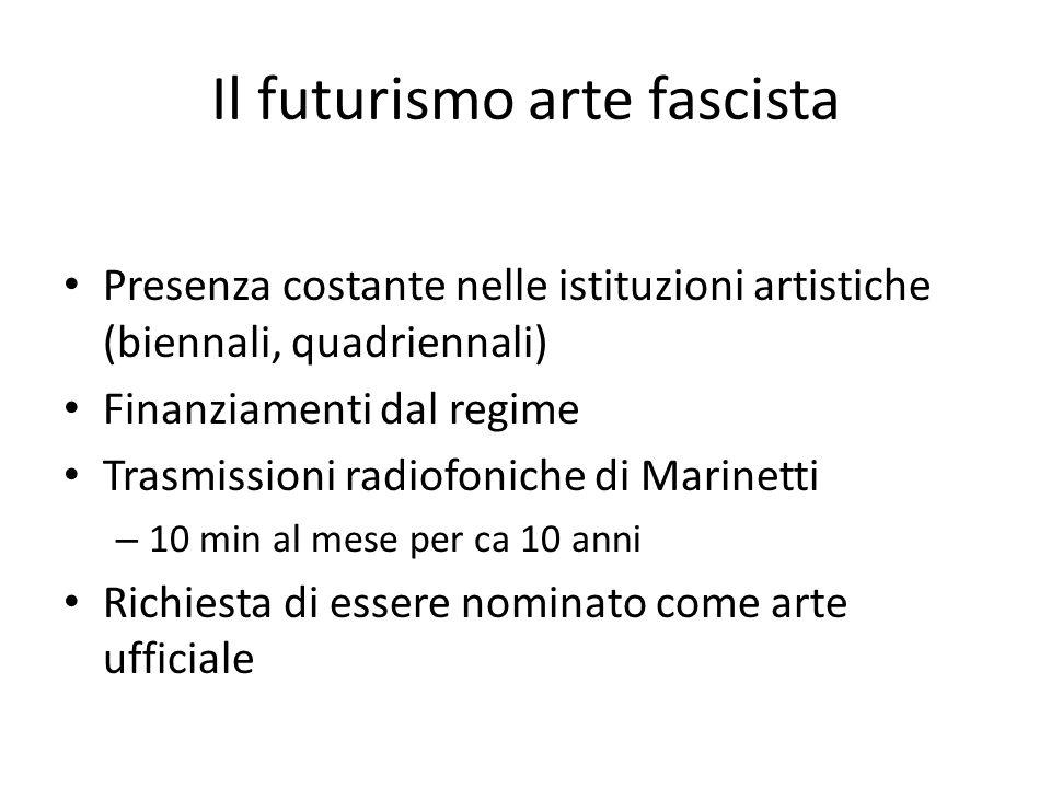 Il futurismo arte fascista