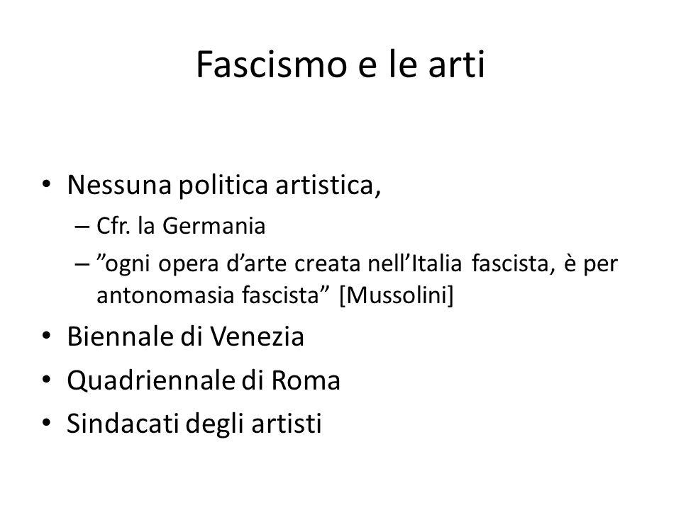 Fascismo e le arti Nessuna politica artistica, Biennale di Venezia