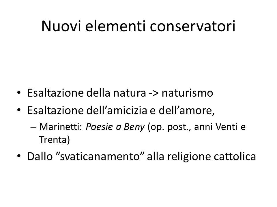 Nuovi elementi conservatori