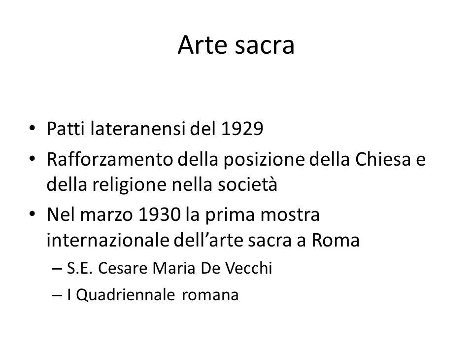 Arte sacra Patti lateranensi del 1929