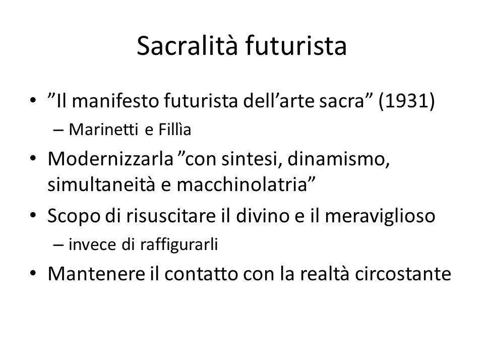 Sacralità futurista Il manifesto futurista dell'arte sacra (1931)