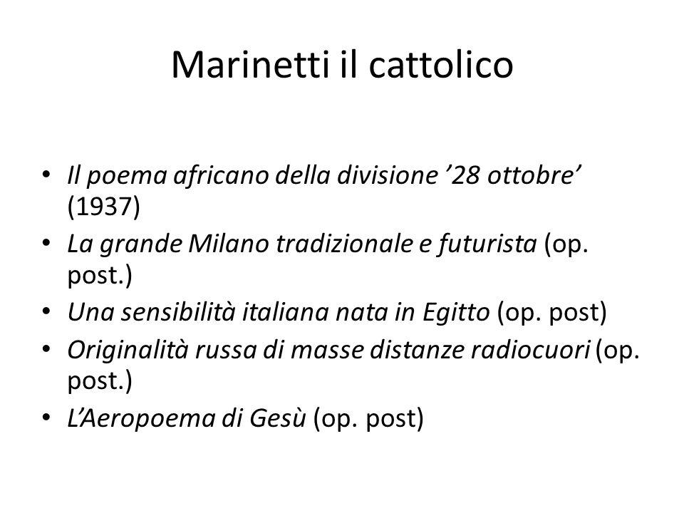 Marinetti il cattolico