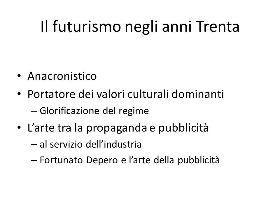 Il futurismo negli anni Trenta