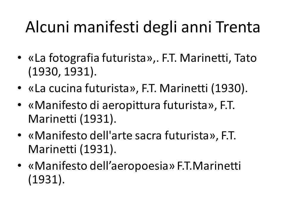Alcuni manifesti degli anni Trenta