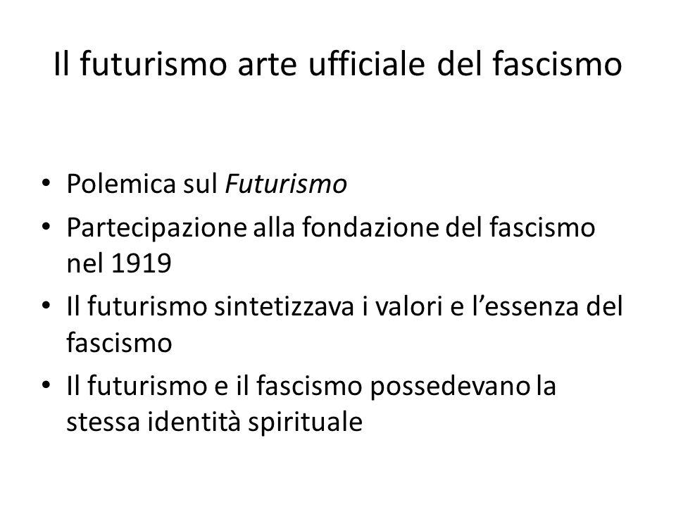 Il futurismo arte ufficiale del fascismo