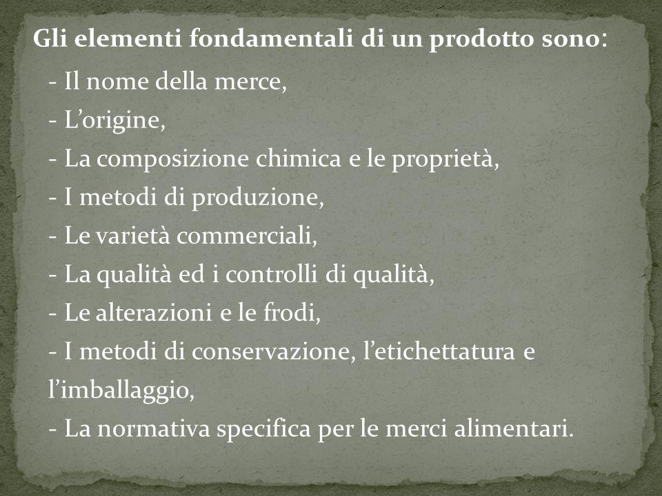 Gli elementi fondamentali di un prodotto sono: