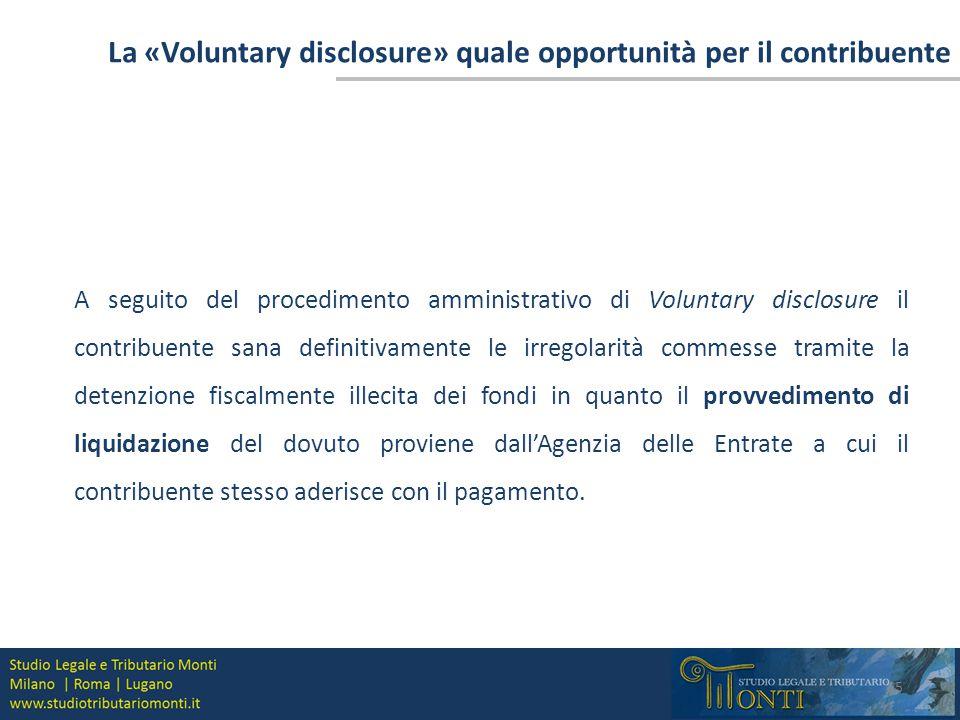 La «Voluntary disclosure» quale opportunità per il contribuente
