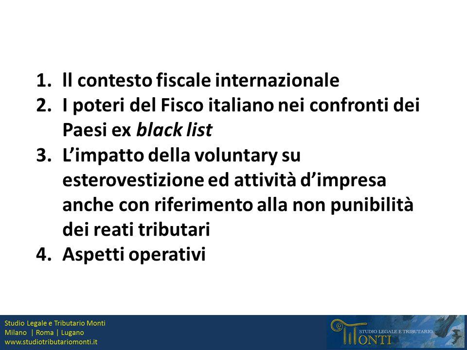 ll contesto fiscale internazionale