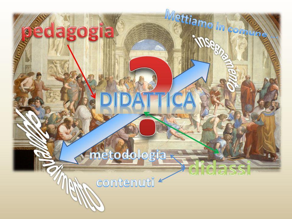 pedagogia didattica apprendimento didassi Mettiamo in comune …