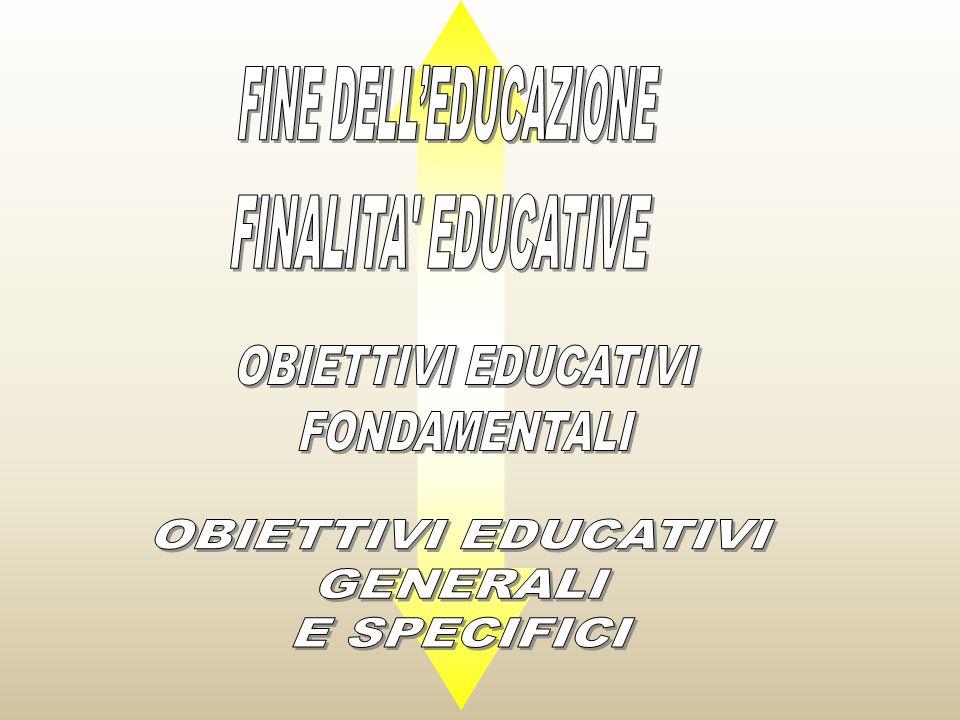 FINE DELL'EDUCAZIONE FINALITA EDUCATIVE. OBIETTIVI EDUCATIVI. FONDAMENTALI. OBIETTIVI EDUCATIVI.