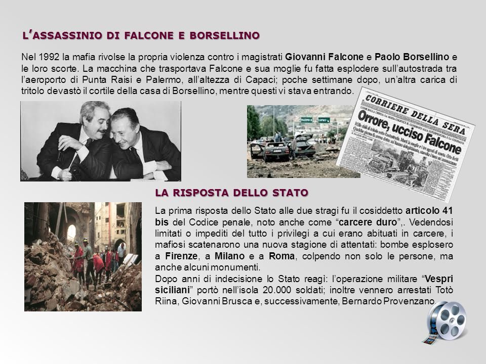l'assassinio di falcone e borsellino