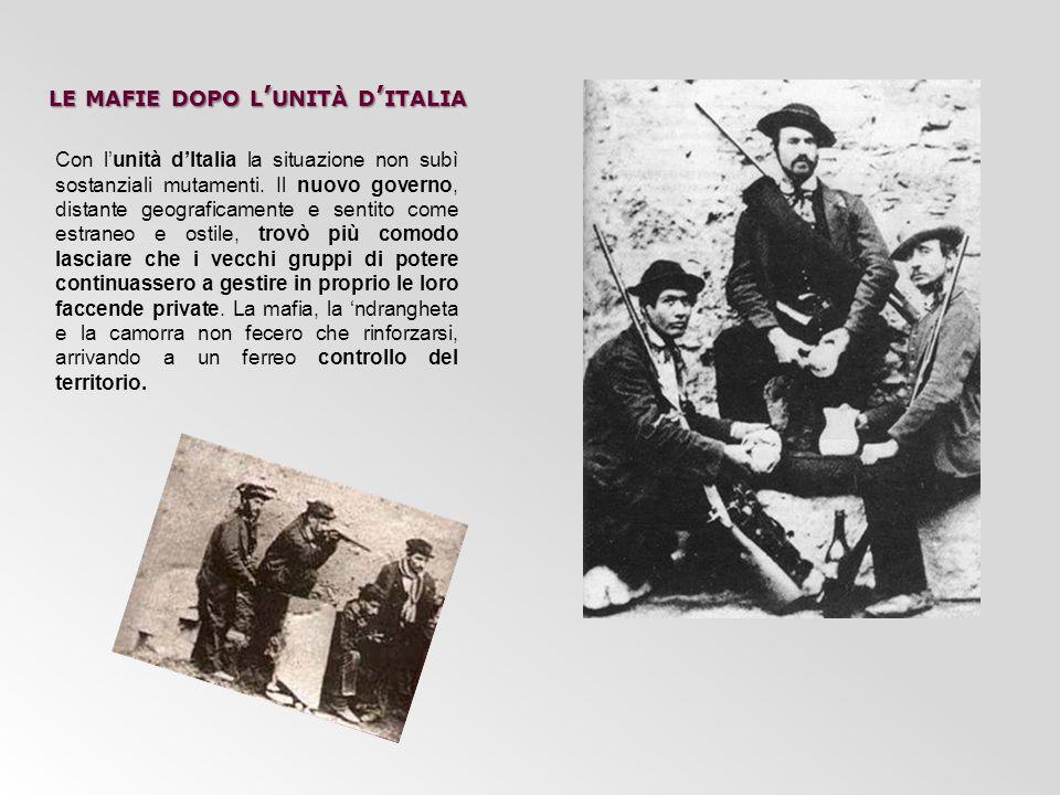 le mafie dopo l'unità d'italia
