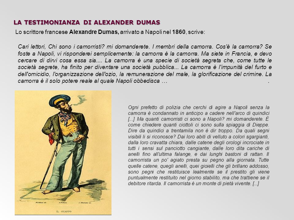 la testimonianza di alexander dumas