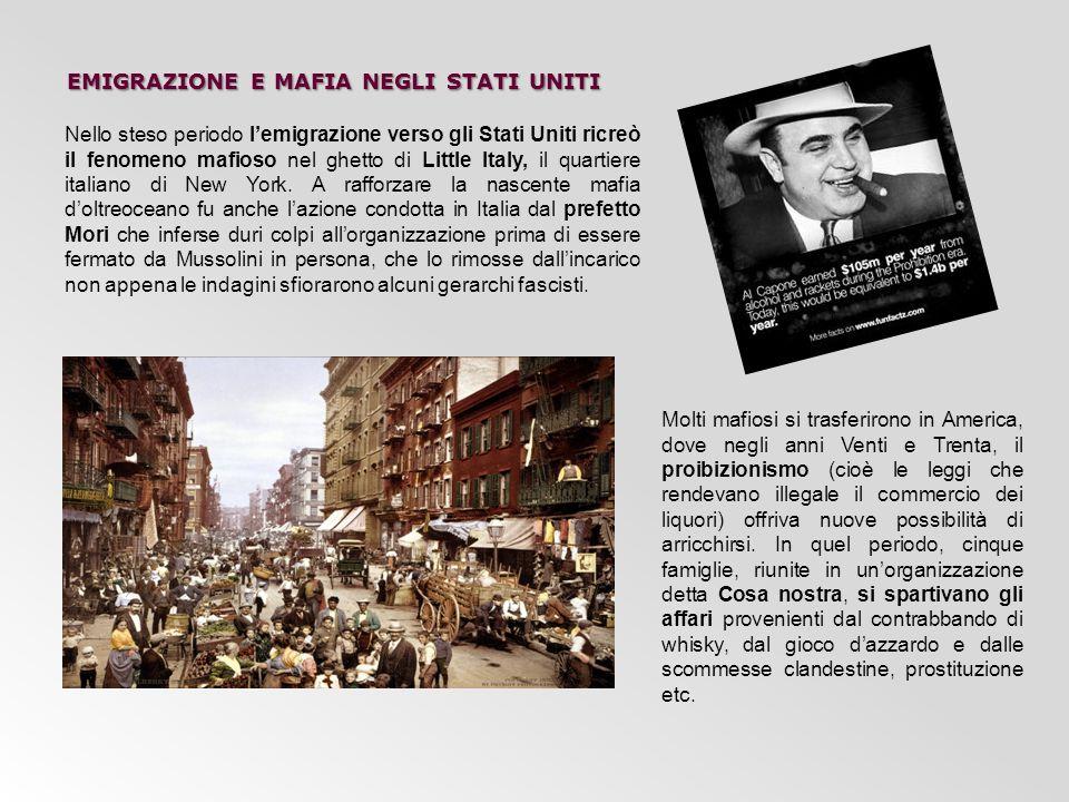 emigrazione e mafia negli stati uniti