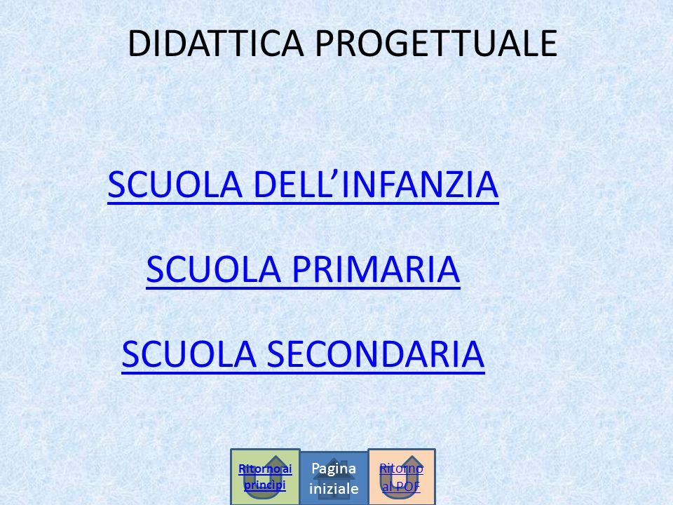 DIDATTICA PROGETTUALE