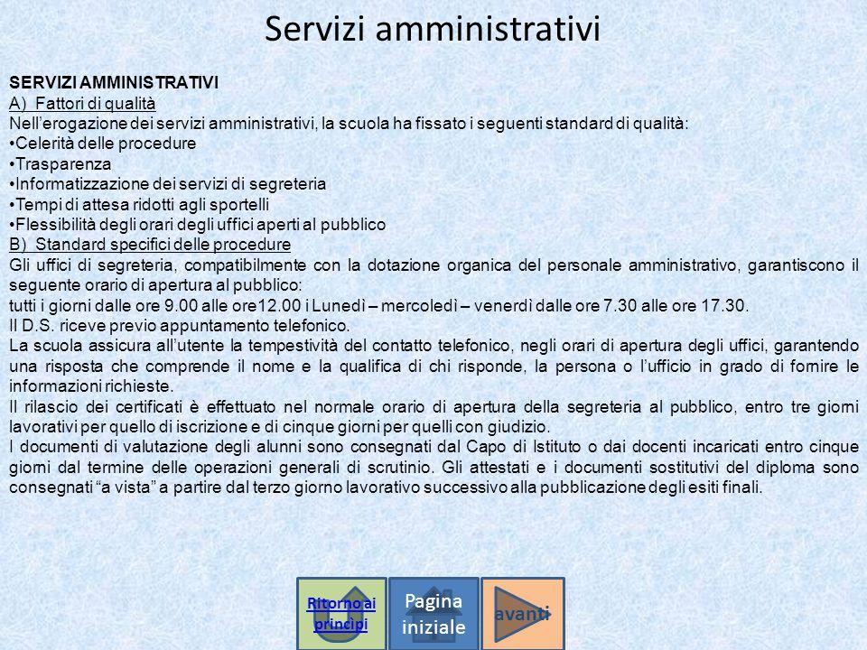 Servizi amministrativi