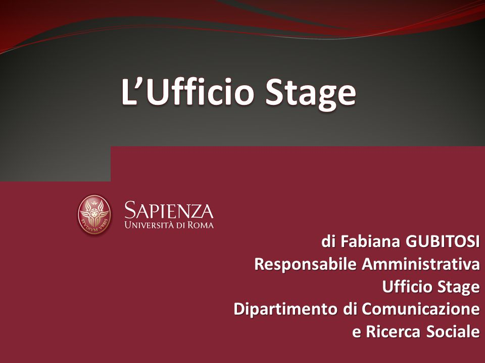 L'Ufficio Stage di Fabiana GUBITOSI