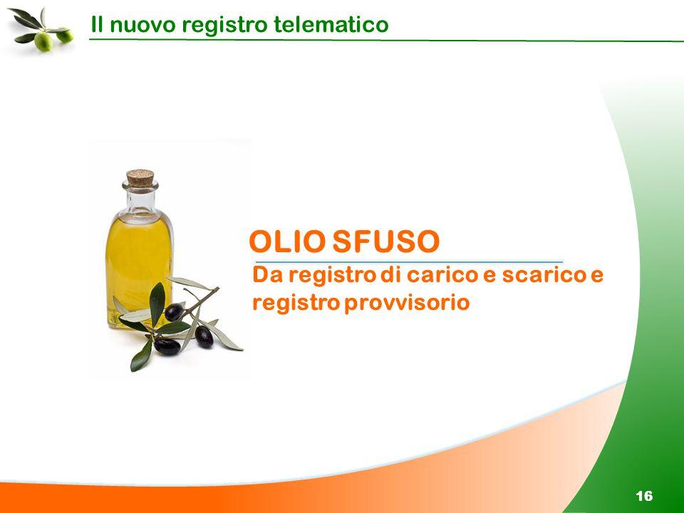 OLIO SFUSO Da registro di carico e scarico e registro provvisorio 16