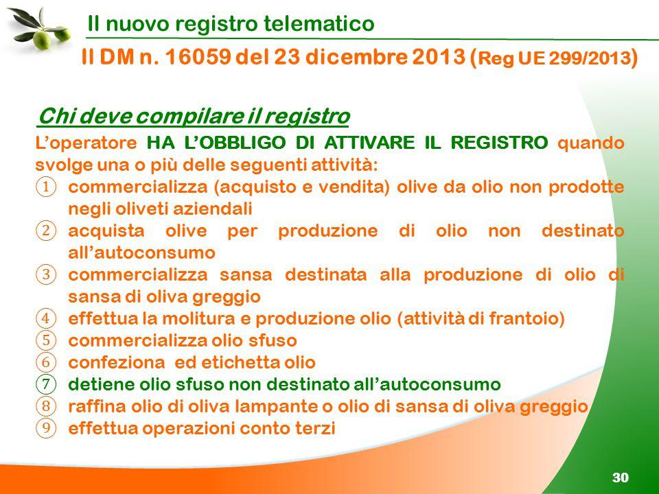 Il DM n. 16059 del 23 dicembre 2013 (Reg UE 299/2013)