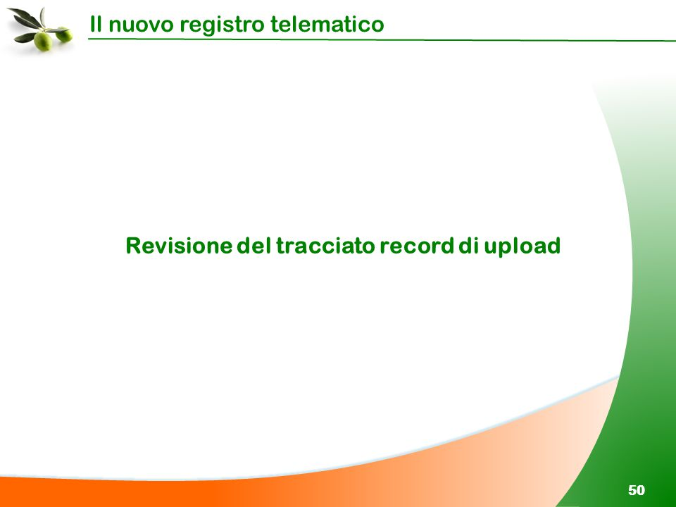 Revisione del tracciato record di upload