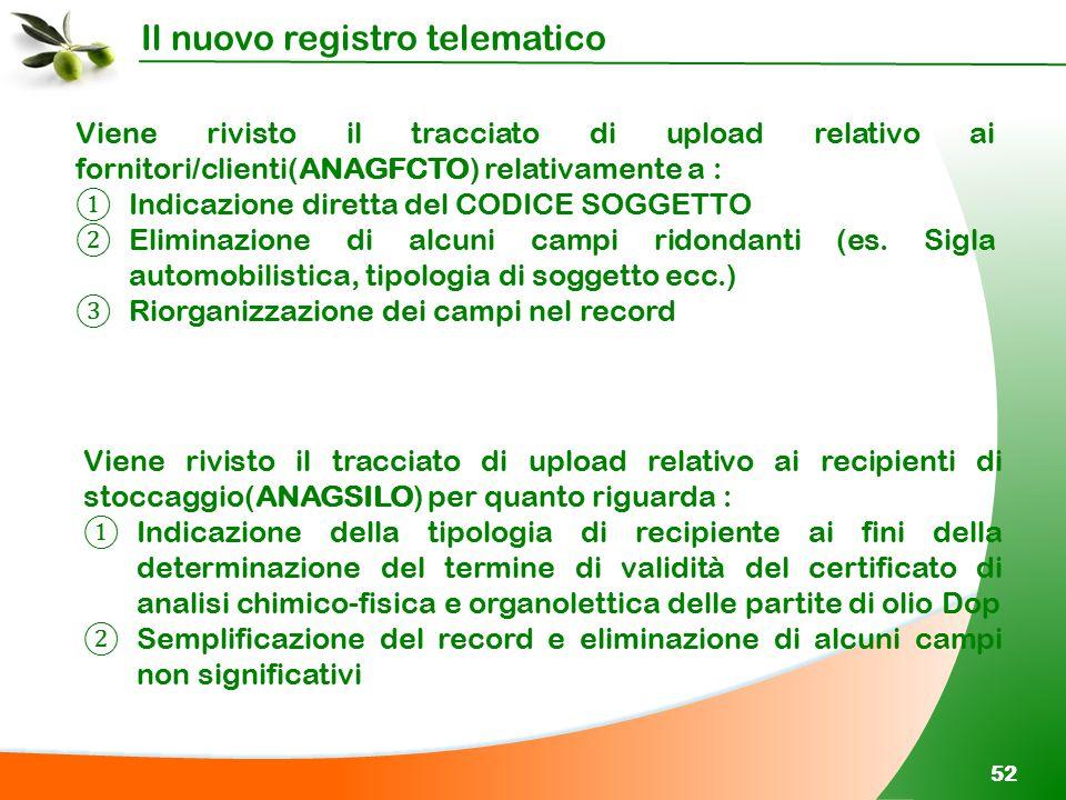 Viene rivisto il tracciato di upload relativo ai fornitori/clienti(ANAGFCTO) relativamente a :