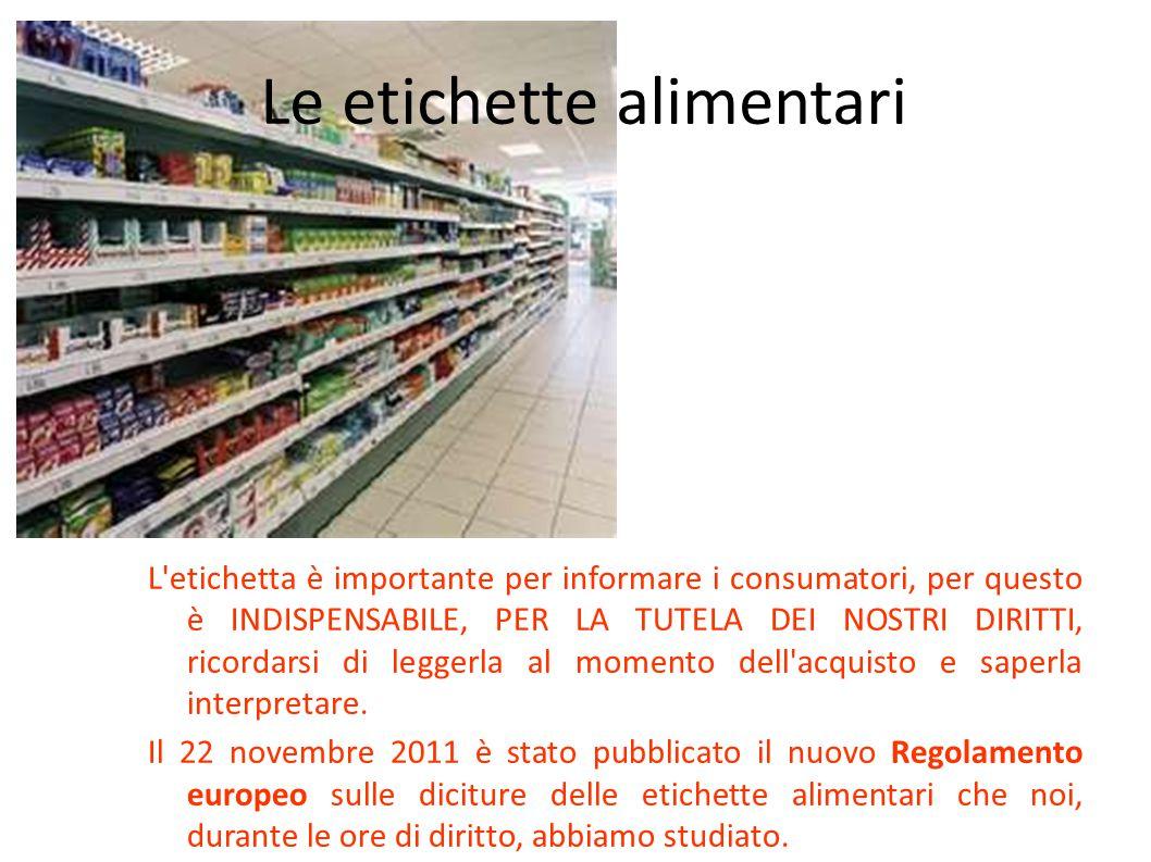 Le etichette alimentari