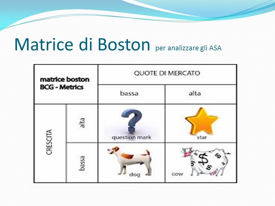 Matrice di Boston per analizzare gli ASA