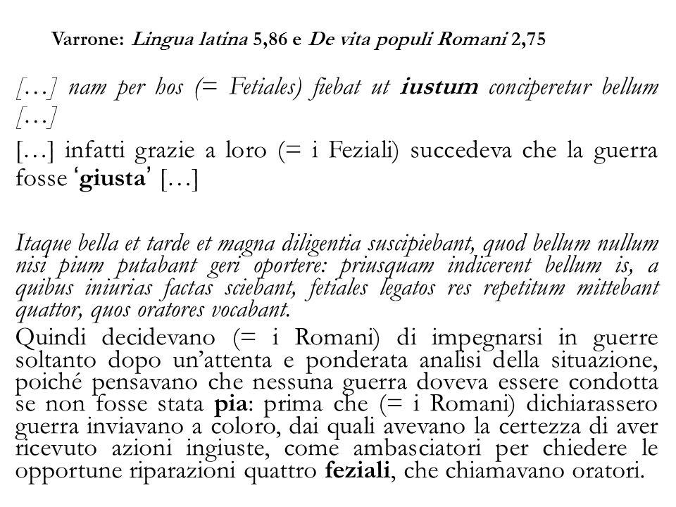 Varrone: Lingua latina 5,86 e De vita populi Romani 2,75