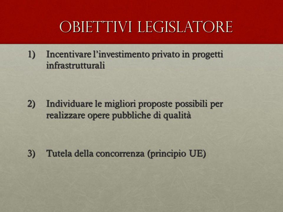 Obiettivi legislatore
