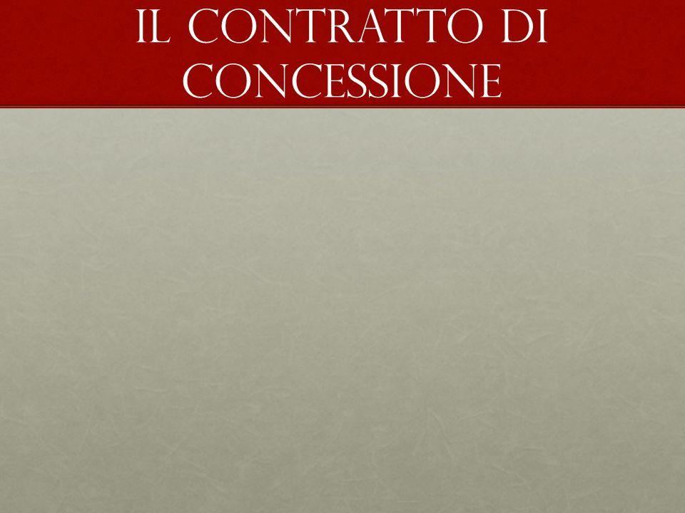 Il contratto di concessione