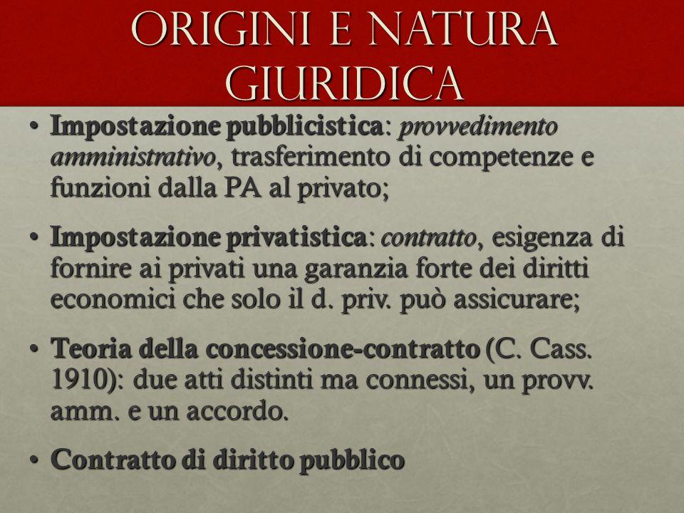 Origini e natura giuridica